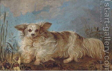 A papillon in a landscape by English School - Reproduction Oil Painting