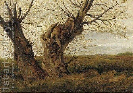 A study of a willow by English School - Reproduction Oil Painting