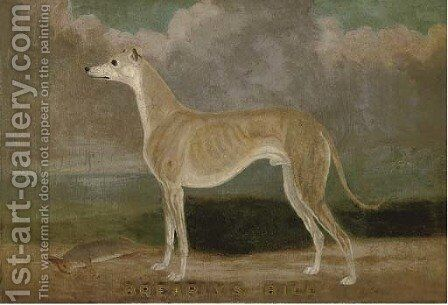 Brearly's Bill, a champion greyhound by English School - Reproduction Oil Painting