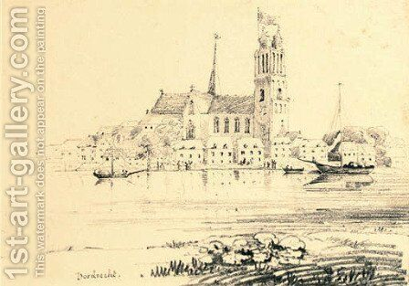Dordrecht by English School - Reproduction Oil Painting