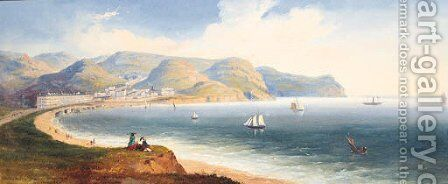 Llandudno, Great Orms Head, Caernarvonshire by English School - Reproduction Oil Painting