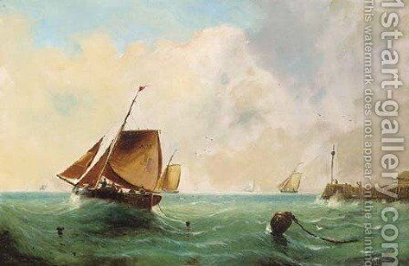 Heading out to sea by English School - Reproduction Oil Painting