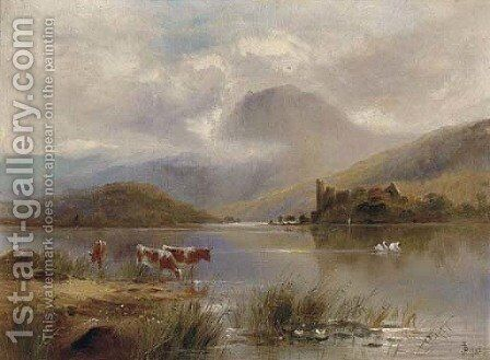Loch Catrine by English School - Reproduction Oil Painting