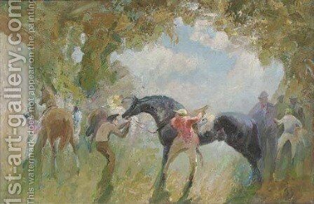 Before the race 3 by English School - Reproduction Oil Painting