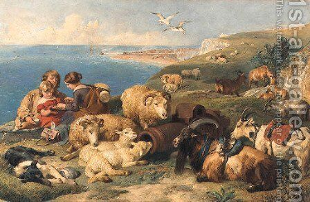 A Time for Peace by (after) Edwin Landseer - Reproduction Oil Painting