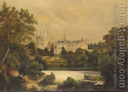 Balmoral Castle by English School - Reproduction Oil Painting