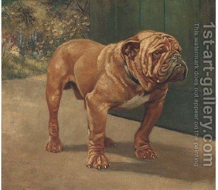 A bulldog 2 by English School - Reproduction Oil Painting