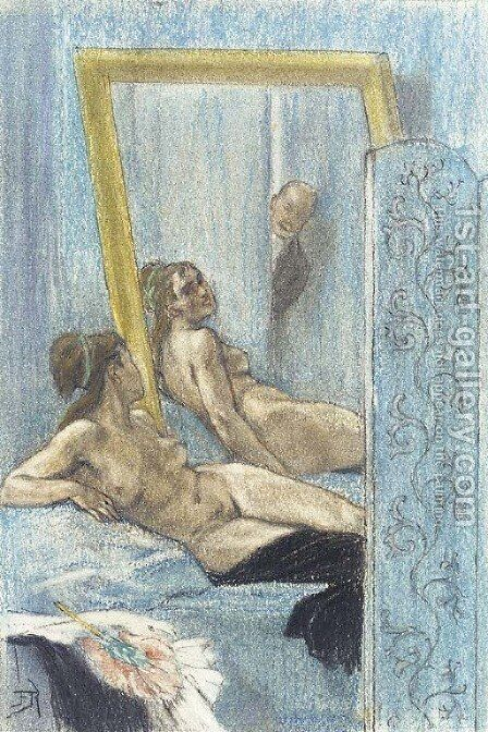 Demangeaison by Felicien Rops - Reproduction Oil Painting