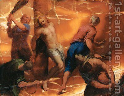 The Flagellation by Domenico Brusasorzi - Reproduction Oil Painting