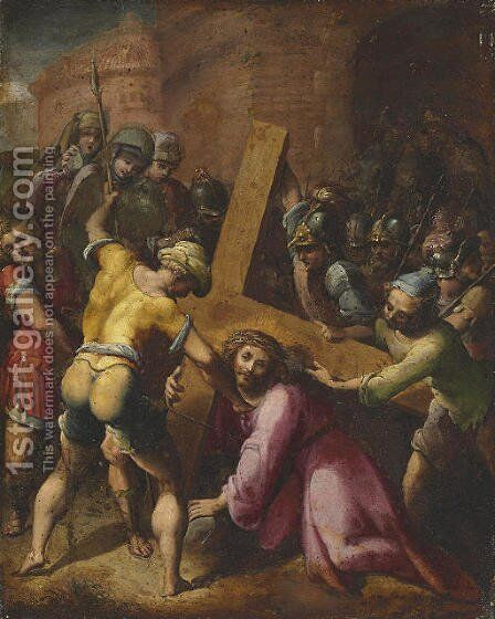 Christ on the Road to Calvary by Flemish School - Reproduction Oil Painting