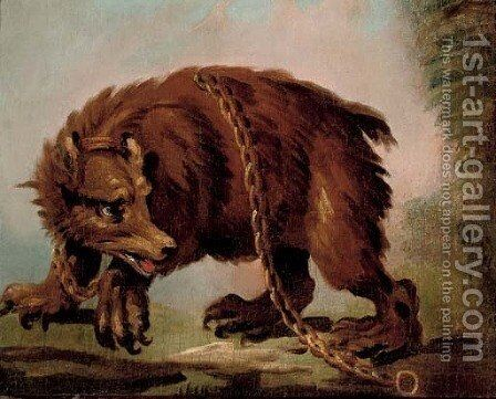 Brown bear by (after) Abraham Danielsz Hondius - Reproduction Oil Painting