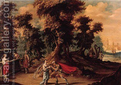 Jacob and Rachel by (after) Abraham Govaerts - Reproduction Oil Painting