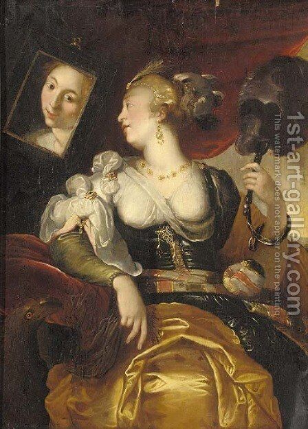 Allegory of Vanity by (after) Abraham Janssens Van Nuyssen - Reproduction Oil Painting