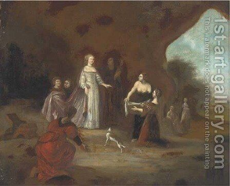 The Finding of Moses by (after) Abraham Van Cuylenborch - Reproduction Oil Painting