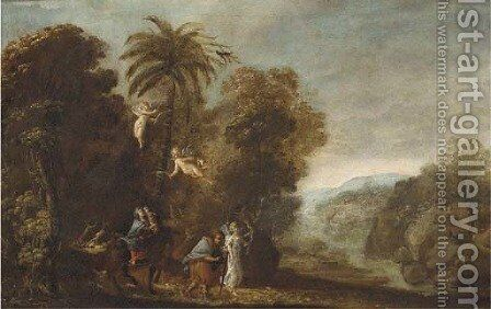 The Flight into Egypt 3 by (after) Adam Elsheimer - Reproduction Oil Painting