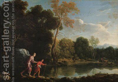 Tobias and the Angel by (after) Adam Elsheimer - Reproduction Oil Painting
