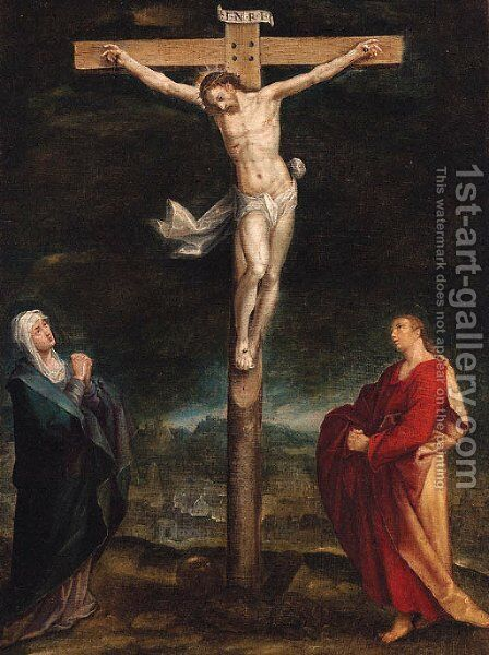 The Crucifixion by (after) Adam Van Noort - Reproduction Oil Painting