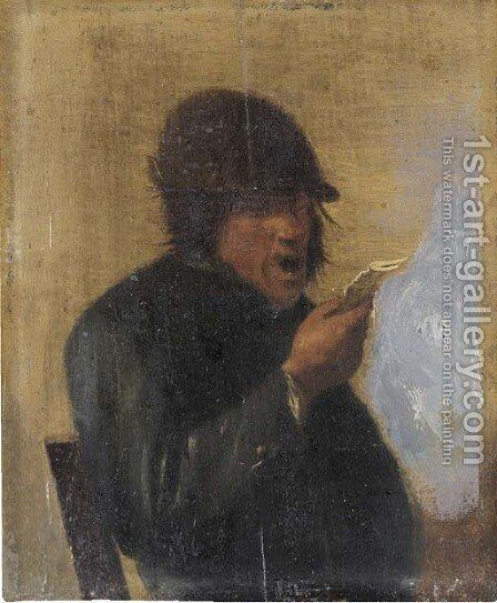 A peasant by (after) Adriaen Brouwer - Reproduction Oil Painting