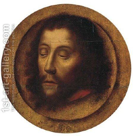 The Head of Saint John the Baptist by (after) Albrecht Bouts - Reproduction Oil Painting