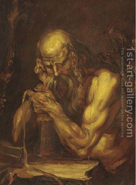 Saint Jerome by (after) Alessandro Magnasco - Reproduction Oil Painting