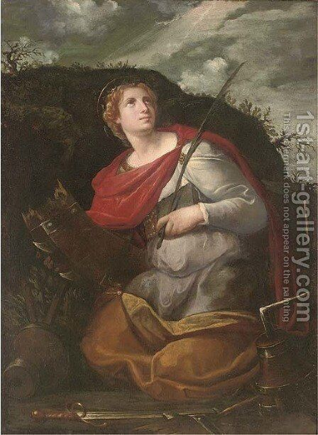 Saint Catherine of Alexandria by (after) Alessandro Turchi (Orbetto - Reproduction Oil Painting