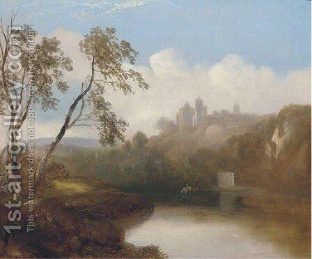 A castle in a river landscape by (after) Alexander Nasmyth - Reproduction Oil Painting