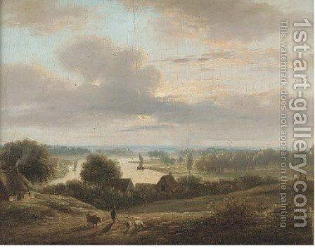 On the River Forth, Sterling by (after) Alexander Nasmyth - Reproduction Oil Painting