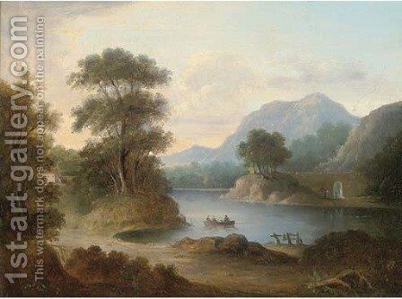 The ferry at Inver, Scotland by (after) Alexander Nasmyth - Reproduction Oil Painting