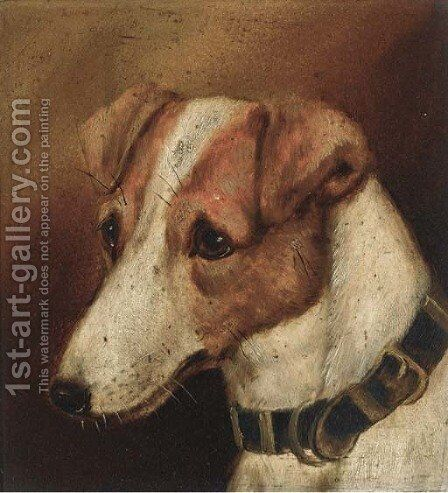 A terrier by (after) Alfred Wheeler - Reproduction Oil Painting