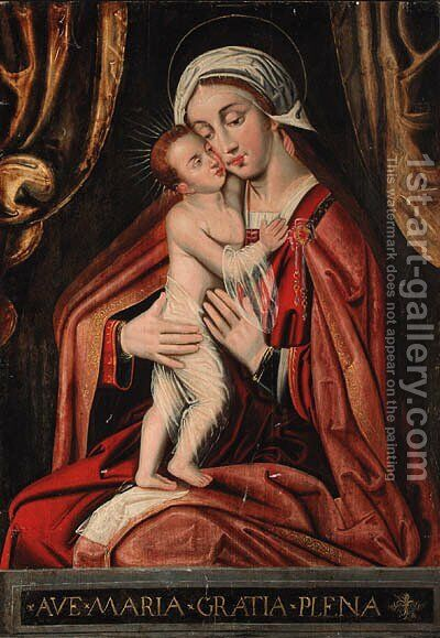 The Madonna and Child by (after) Ambrosius Benson - Reproduction Oil Painting