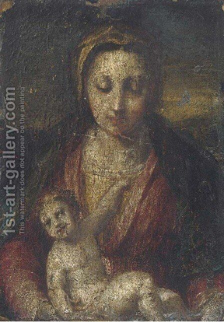 Madonna and Child by (after) Andrea Del Sarto - Reproduction Oil Painting