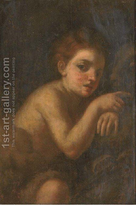 The Infant Saint John the Baptist by (after) Andrea Del Sarto - Reproduction Oil Painting