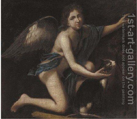 Cupid by (after) Andrea Vaccaro - Reproduction Oil Painting