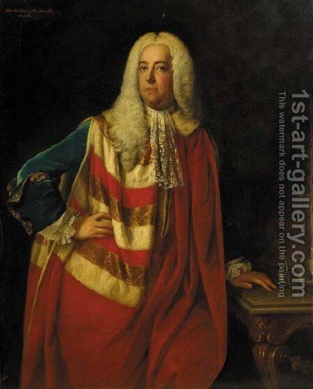 Portrait of Charles, Earl of Tankerville by (after) Andrea Soldi - Reproduction Oil Painting