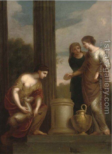A classical scene by (after) Kauffmann, Angelica - Reproduction Oil Painting