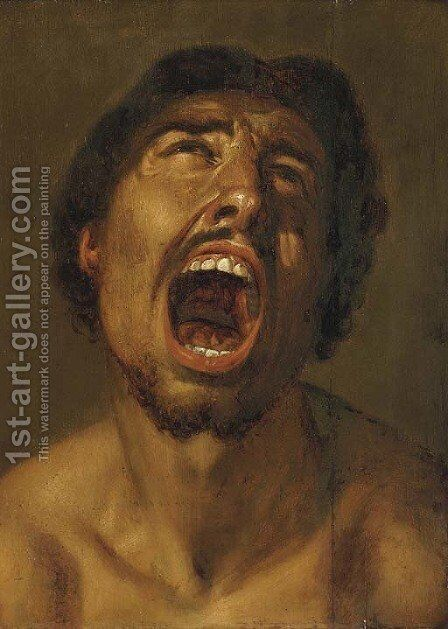 A man shouting by (after) Annibale Carracci - Reproduction Oil Painting