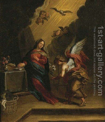 The Annunciation by (after) Annibale Carracci - Reproduction Oil Painting