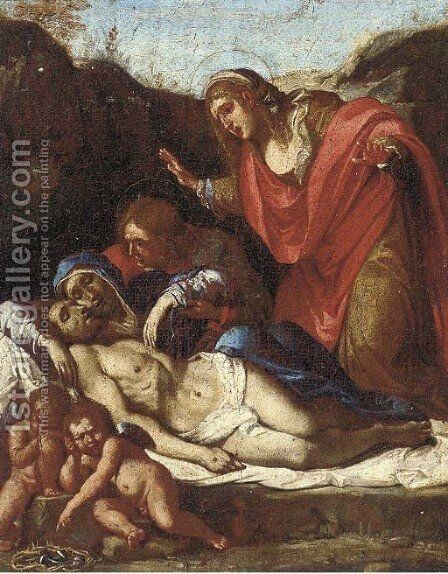 The Lamentation by (after) Annibale Carracci - Reproduction Oil Painting