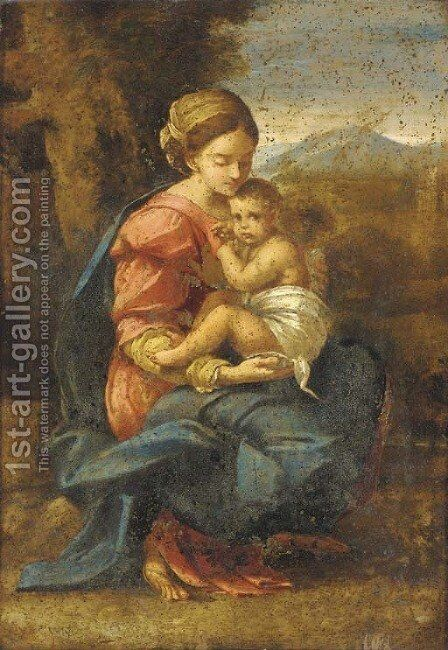 The Madonna and Child by (after) Annibale Carracci - Reproduction Oil Painting