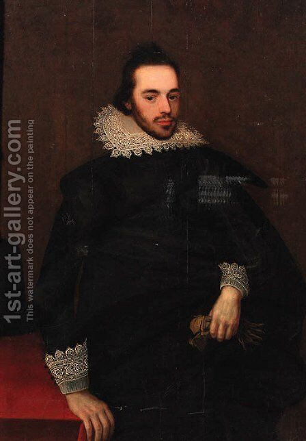 Portrait of a bearded gentleman by (after) Anthonis Mor Van Dashorst - Reproduction Oil Painting