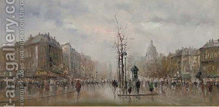 A Parisien street by (after) Antoine Blanchard - Reproduction Oil Painting