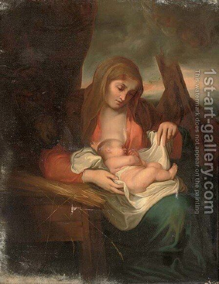 The Madonna and Child by (after) Correggio, (Antonio Allegri) - Reproduction Oil Painting