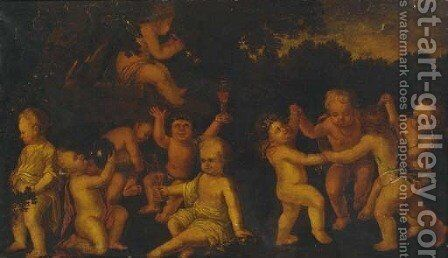 The Infancy of Bacchus by (after) Antonio Tempesta - Reproduction Oil Painting