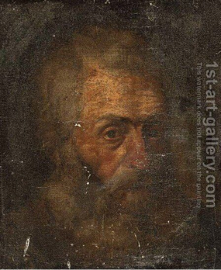 Head of a bearded man by (after) Baccio Bandinelli - Reproduction Oil Painting