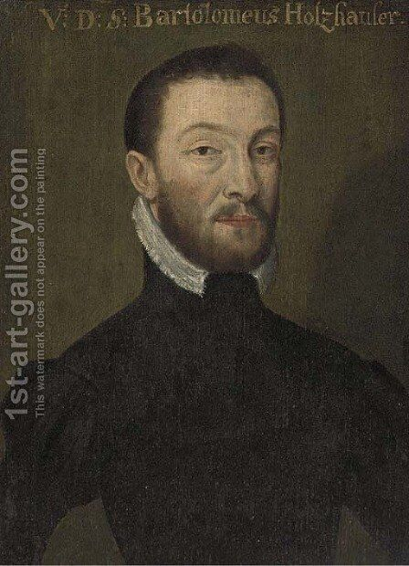Portrait of Bartolomeus Holzhauser by (after) Bartel Bruyn - Reproduction Oil Painting