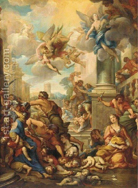 The Massacre of the Innocents by (after) Bartolomeo Giuseppe Chiari - Reproduction Oil Painting