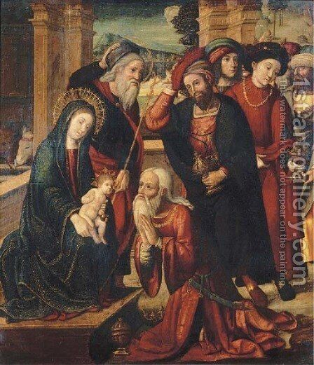The Adoration of the Magi 2 by (after) Bernard Van Orley - Reproduction Oil Painting