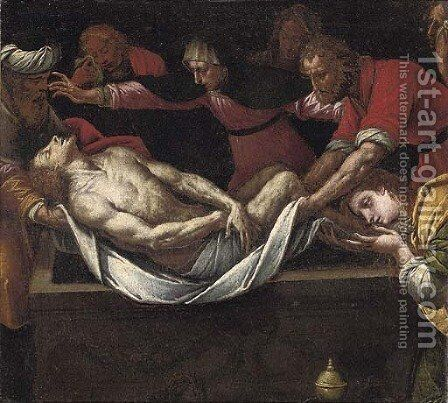 The Entombment by (after) Bernardino Luini - Reproduction Oil Painting
