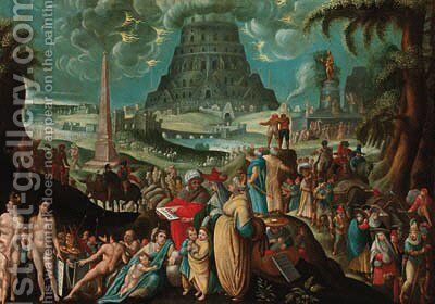 The Tower of Babel by (after) Karel Van Mander - Reproduction Oil Painting