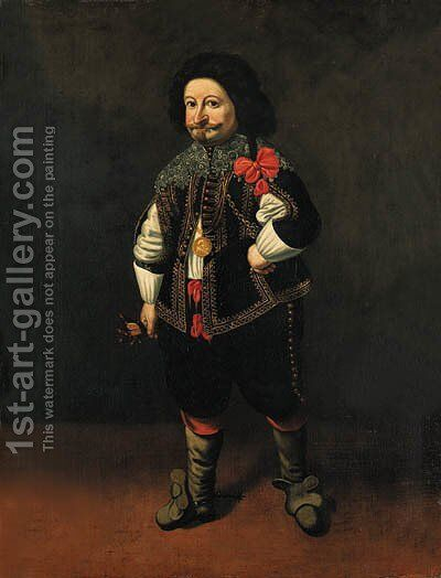 Portrait of a dwarf by (after) Carlo Ceresa - Reproduction Oil Painting
